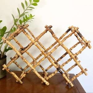 Vintage Unique Bamboo Wine Rack Storage